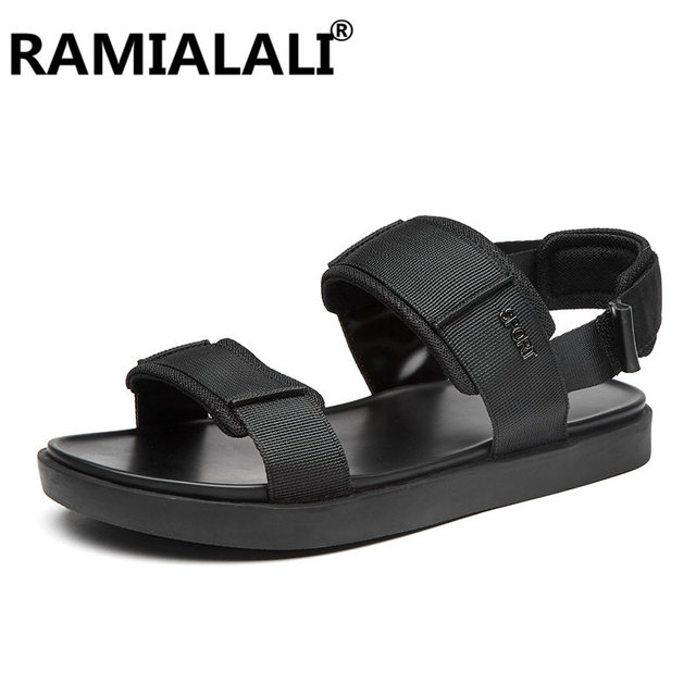 86498f76c93ed Brand Summer Fashion Sandals Men Casual Shoes Black Classic Roman Style  Beach Sneakers Native Male Rubber Sole Home Slippers