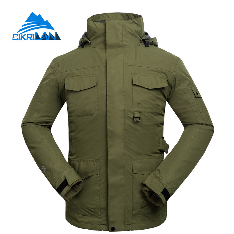 Hot Sale New Water Resistant Windstopper Chaquetas Hombre Winter Thermal Snowboard Ski Jacket Men Trekking Camping Hiking Coat hot sale windstopper water resistant coat 2in1 hiking winter jacket women outdoor veste breathable camping chaquetas mujer