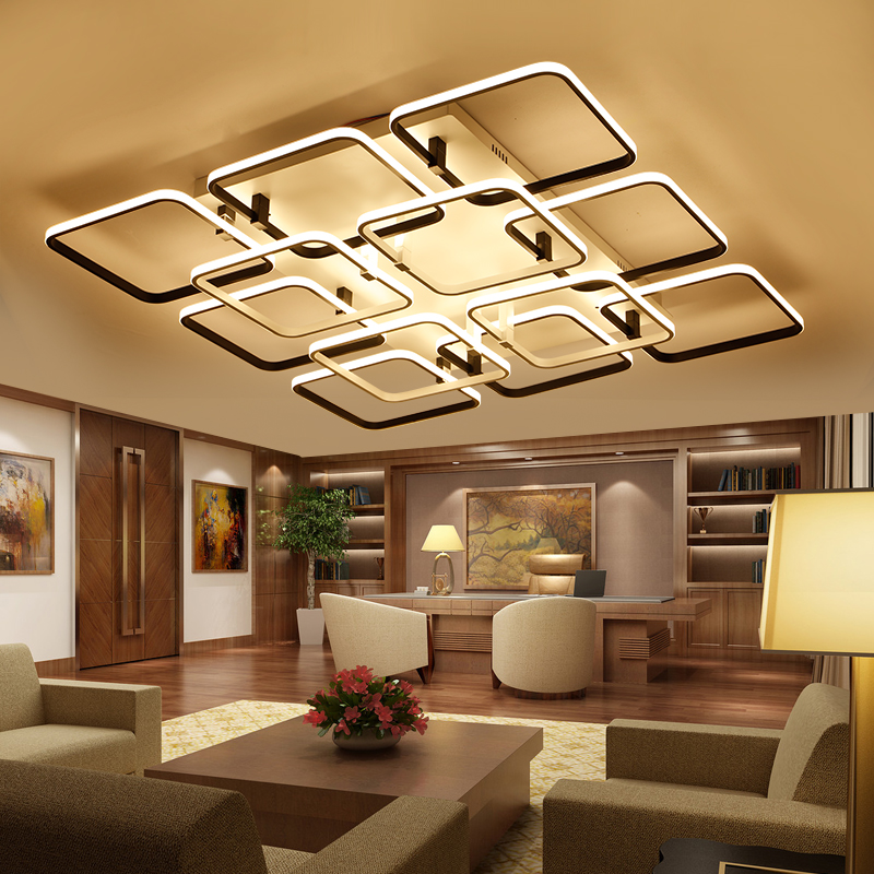 New acrylic modern led ceiling lights for living room bedroom plafon led home lighting ceiling Overhead lighting living room