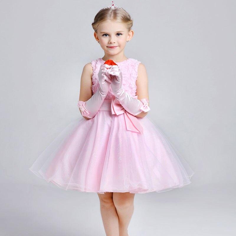 4fba6d9da3c1bd Vaak Retail Meisjes Prinses Jurk blauw Baby Bruiloft bloem jurk