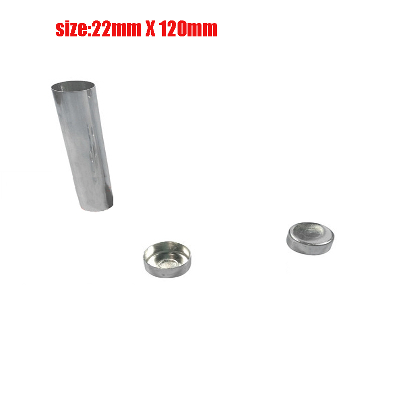 Image 2 - 100PCS New Dental Lab Aluminum Cartridge Diameter 22mm With Cover Lab Flexible Acrylic Denture Inject Acrylic Work Length 120mm-in Teeth Whitening from Beauty & Health