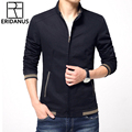 2016 Men's New Casual Pure Color Jacket High Quality Spring Regular Slim Jacket Classic Stand Collar Business Coat For Male M386