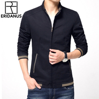 2016 Men S New Casual Pure Color Jacket High Quality Spring Regular Slim Jacket Classic Stand