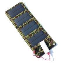 Solar para Telefones Móveis e banco do Poder de Bateria Portable 7 W Carregador Saída USB Painel Solar Alta Qualidade Frete Grátis