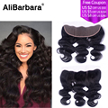 Brazilian Lace Frontal Closure 13x4 Virgin Human Hair Closure Body Wave Ear to Ear Lace Frontal with Baby Hair Bleached Knots