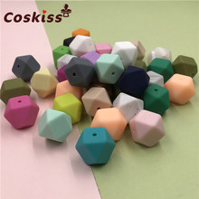 Baby Silicone Jewelry Pram Toy Beads Nursing-Accessories Chew DIY 17mm 5pc Can Octagonal
