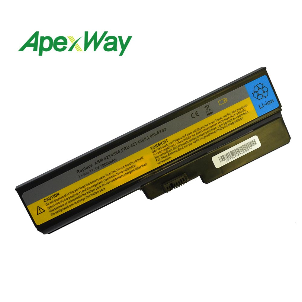 6600mah 11,1 v аккумулятор для lenovo G550 G430 G430A G430L G430M G450 G450 G450A G530M G555 N500 B460 G450M B460 B550 G530 G530A