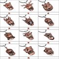 Free shipping Fashion Jewelry Men's Charms women Antique copper 12 Chinese zodiac Pendant Leather Necklace Colar