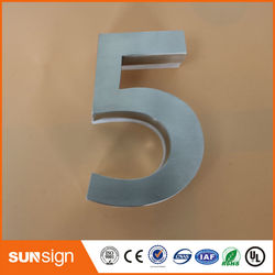 H 15cm New classical European Style Pure copper house number card Villa apartment number four digits