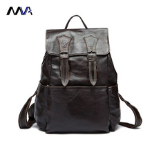 MVA Genuine Leather Brand Men's Travel Bags Luggage School Bag Men Bag Genuine Leather Men Backpack Fashion Man Backpacks