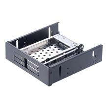 Uneatop ST5524B 2-Bay 2.5 inch SATA HDD/SSD Mobile Rack Enclosure Black Door