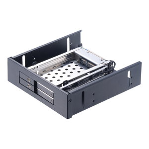 Uneatop ST5524 2-Bay 2.5 inch to 5.25in Optibay SATA HDD SSD Mobile Rack for 2.5in hdd enclosure