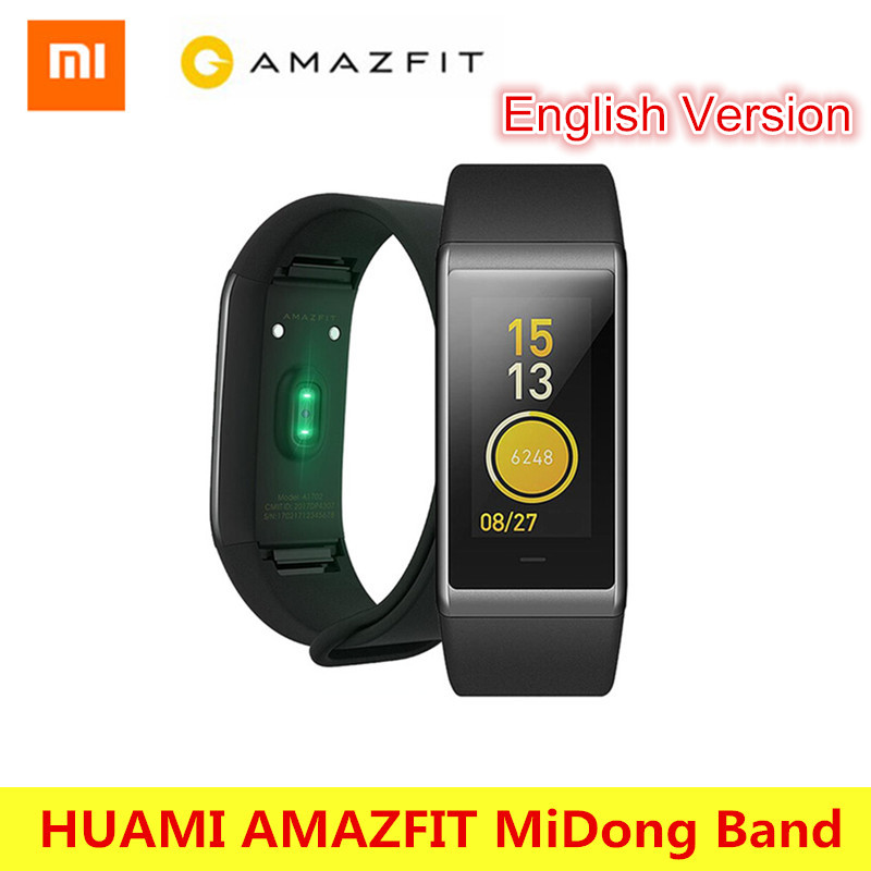 HUAMI AMAZFIT Midong Band Smartband Bluetooth 4.1 GPS Heart Rate Monitor 50 Meter Waterproof IPS Screen Wristband Smart Bracelet huami amazfit smartwatch gps amazfit sports smart watch bluetooth wifi dual 512mb 4gb heart rate monitor for xiaomi ios english