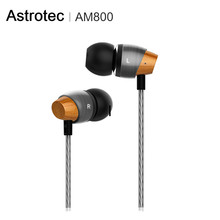 Astrotec am800 목재 금속 디자인 괜찮은 소리 인 이어 이어폰 나무 금속 조합