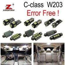 14 шт. ошибок светодиодный внутренний свет комплект для Mercedes Benz C class W203 C230 C240 C280 C320 C32 AMG C55 AMG(00-07