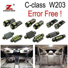 14 pz free error Led Interni Kit Per Mercedes Benz classe C W203 C230 C240 C280 C320 C32 AMG C55 AMG (00-07)