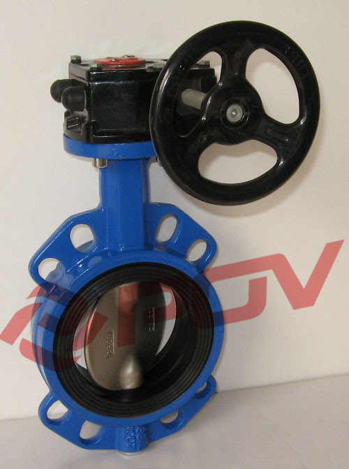 Wafer 1.0mpa soft seal gear box butterfly valve ethylene propylene soft seal butterfly valve pn 1 6 dn65 manual flange valve