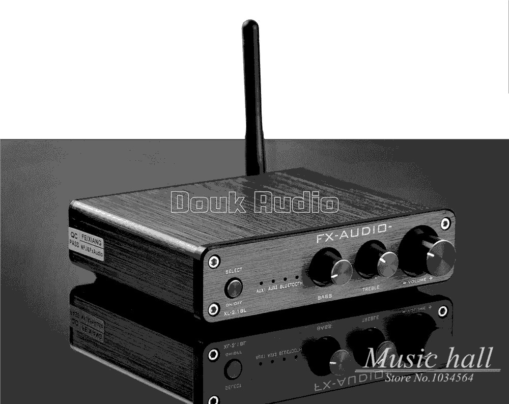 2017 New Music Hall HiFi 2.1 Channel Bluetooth 4.0 Digital Amplifier High Power Multimedia Mini Amp music hall mini stereo digital power amplifier hifi 2 0 audio amp 50w 50w treble bass black with 24v power supply