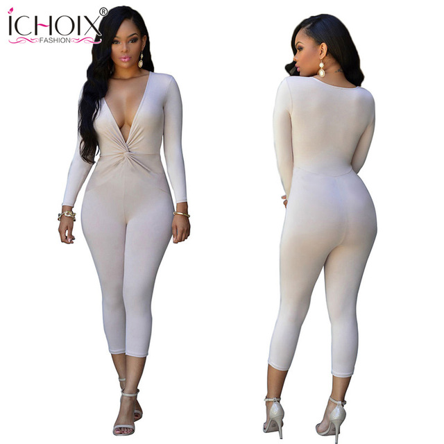 Aliexpress.com : Buy ICHOIX White Rompers Jumpsuit Women Elastic ...
