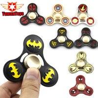 EDC Tri Spinner Avengers DC Super Hero Fidget Toy Iron Man Batman Flash Metal ADHD Hand