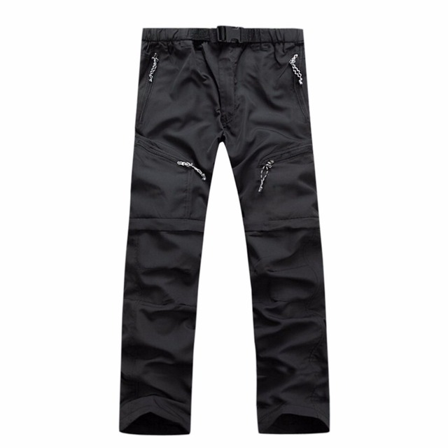 Tengo Brand Summer Waterproof Men Pants Outdoors Leisure Breathable Trousers Removable Quick-Drying Pants Loose Pants slim fit