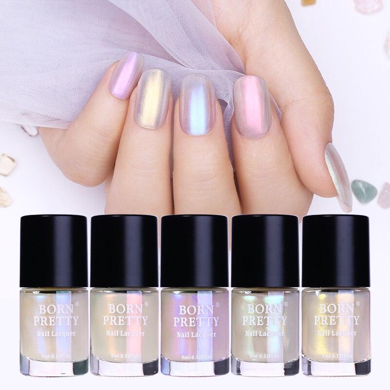 BORN PRETTY Shell Glitter Nail Polish 9ml Transparent