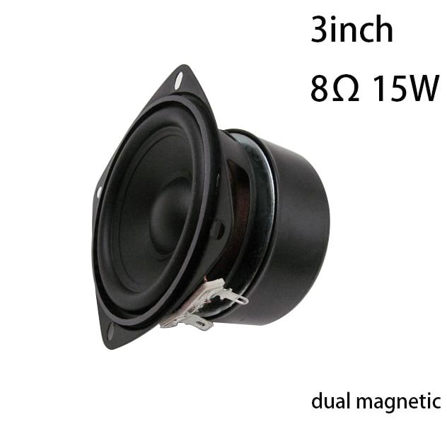 3inch 8Ohm 15w DIY Speaker For Bathroom Sauna Room Waterproof Speaker Outside Magnetic 79X67X52mm