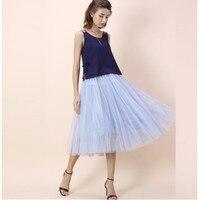 Woman Tulle Midi Skirt High Quality Length Fashion Women Skirts Spring Summer Style Custom Made