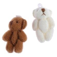 Mini ours modèle, 1 pièce, Simulation danimaux miniatures, meubles de décoration, accessoires pour maison de poupée 1/12