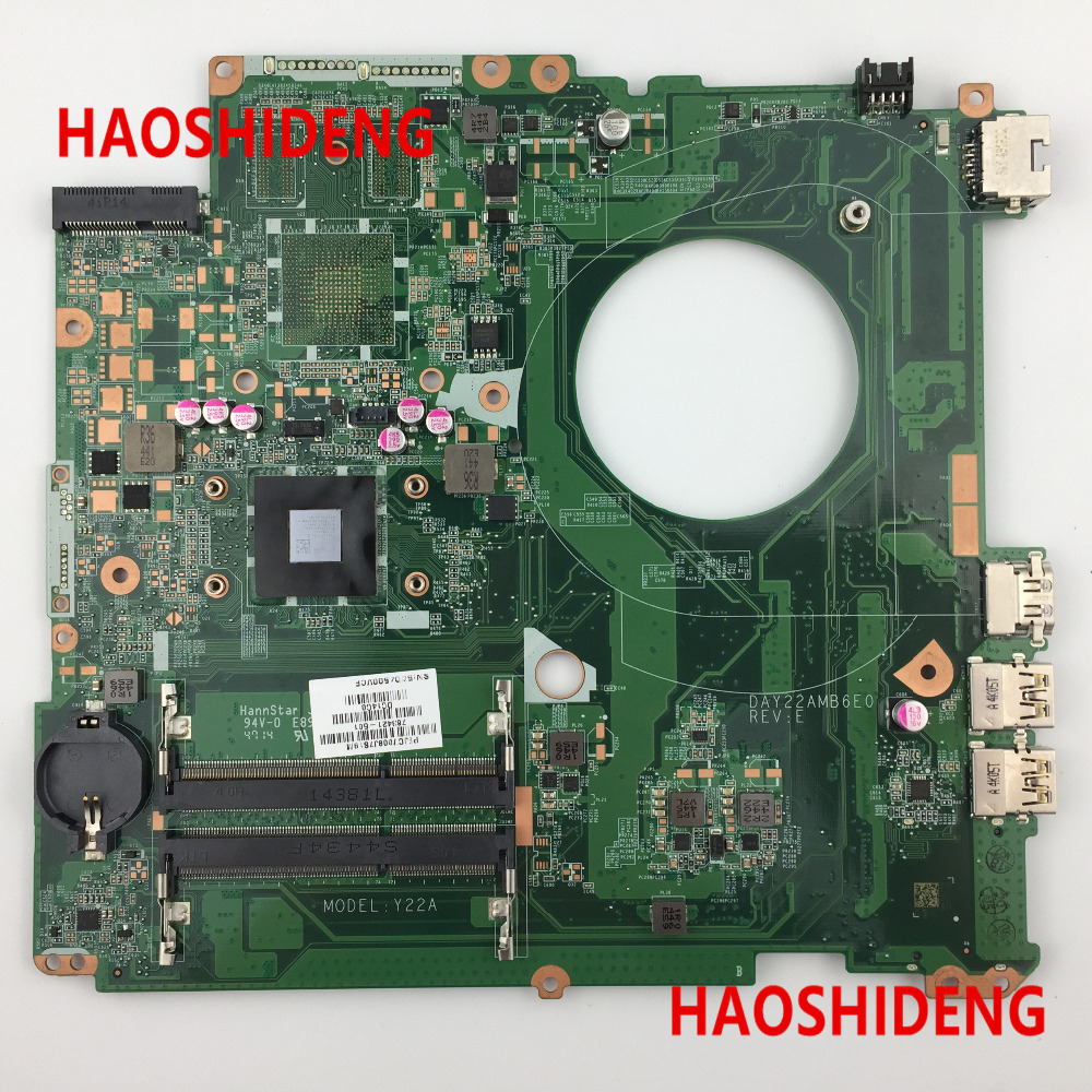 763421-501 DAY22AMB6E0 Y22A for HP PAVILION 17-F 17Z-F motherboard A4-6210 CPU.All functions 100% fully Tested ! 763425 501 for hp pavilion 17 f 17z f laptop motherboard day22amb6e0 rev e 260m2gb a6 6310 mainboard 90days warranty 100
