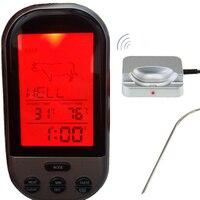 ワイヤレスデジタルオーブン温度計キッチン食品調理温度計バーベキューグリル喫煙七面鳥肉水砂糖液体温度プロー