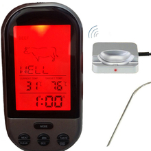 Wireless Digital Oven Thermometer Kitchen Food Cooking Thermometer BBQ Grilling Smoker Turkey Meat Water Sugar Liquid TEMP Probe