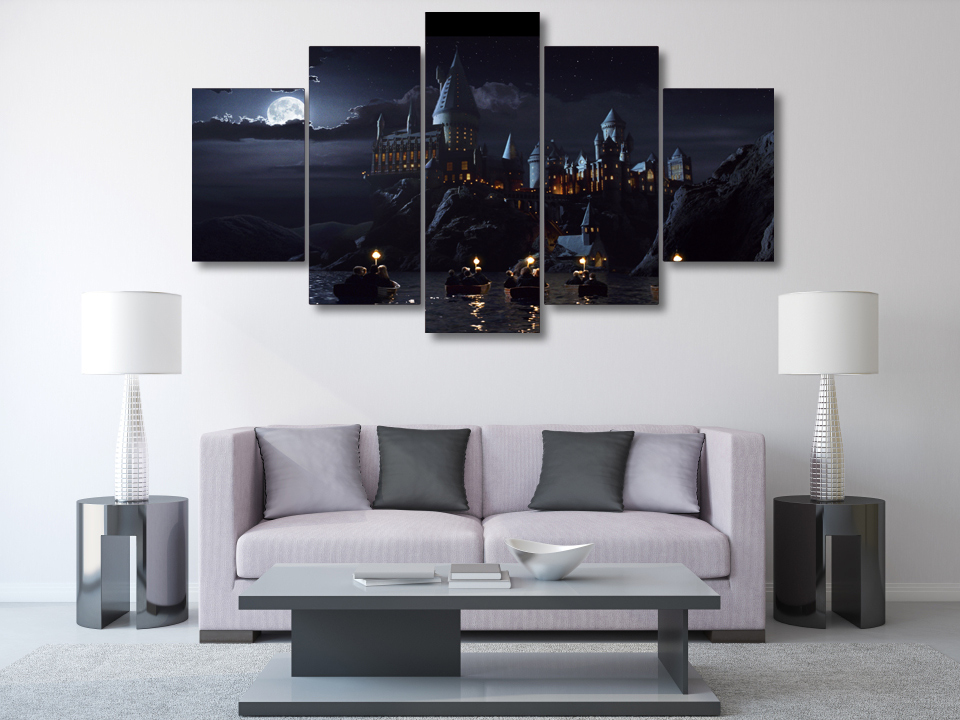 5 pieces harry potter school castle wall art picture home for House decoration pieces