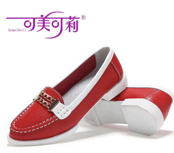 где купить  kemeikeli Spring Autumn Fashion Wild Women Shoes Pointed Flat Loafers metal buckle Mother's Single Feetwear Free shipping  по лучшей цене