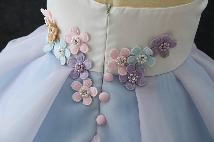 New Girls Dress 3Pcs Kids Dresses For Girl Unicorn Party Dress Christmas Carnival Costume Child Princess Dress 3 5 6 8 9 10 Year