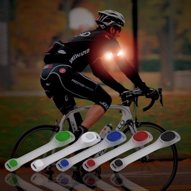 HW 2 stücke Neue Arm Wärmer Gürtel Fahrrad FÜHRTE Armbinde FÜHRTE Sicherheit Sport Reflektierende Gurtband-snap Wrap Arm Band Armband