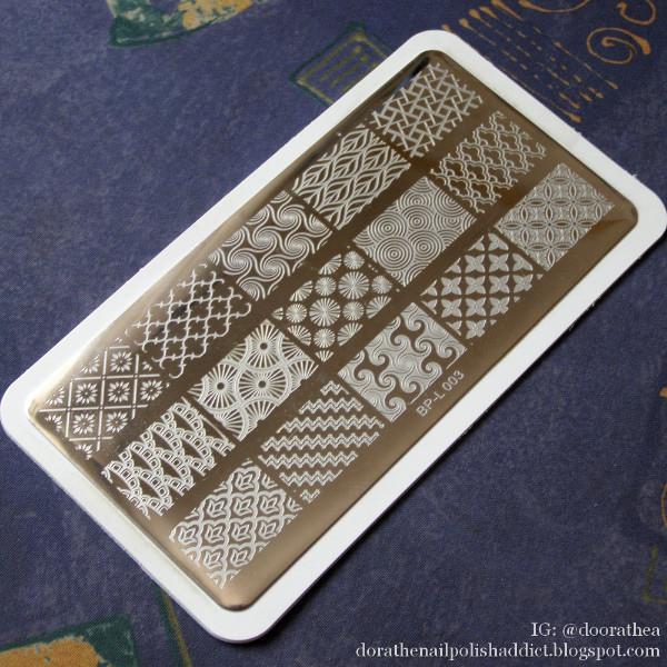 BORN PRETTY BP-L003 Large Designs Nail Art Stamp Template Image Plate 12.5 x 6.5cm