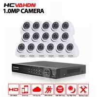16CH AHD NH P 1080 P DVR комплект видеонаблюдения видео системы 16 x P 720 1.0MP Крытый Открытый безопасности камера 16 каналов системы скрытого видеонаблюд