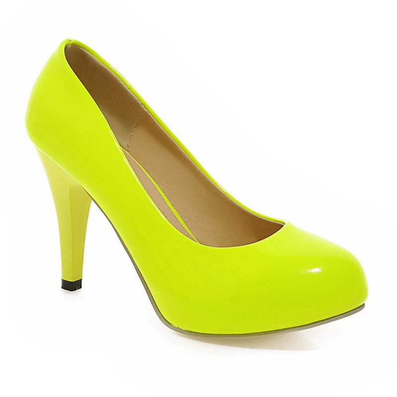 Compare Prices on Low Heel Pumps Yellow- Online Shopping/Buy Low