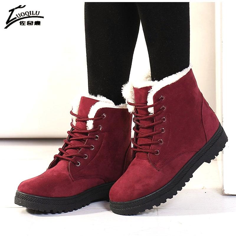 Botas Mujer női csizma szőnyeg hó téli csizma nők meleg boka - Női cipő
