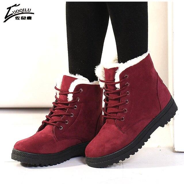 Women Boots 2018 Winter Boots Women Warm Ankle Boots Women Winter Shoes Woman Botas Mujer bota feminina plus size 35-44