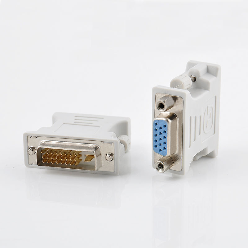 цена на High Quality VGA 15 Pin PC Laptop Female to 24+1 pin DVI-D Male Adapter Converter Wholesale Mayitr