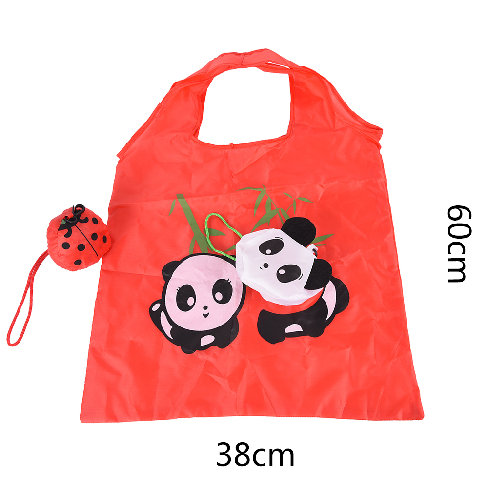 60*38cm Cartoon Animal Foldable Folding Shopping Tote Reusable Eco Bag Panda Frog Pig Bear waterproof shopping bags Storage Bag