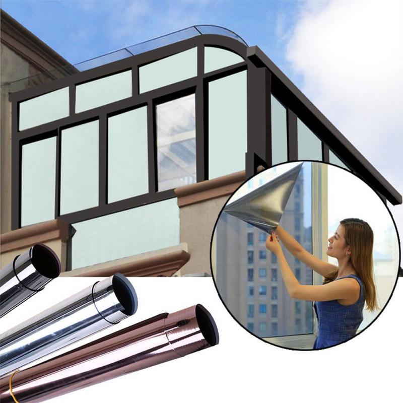 2 м * 50 см оконная пленка, односторонняя зеркальная изоляционная наклейка s, отражающая на солнечной батарее, односторонняя зеркальная пленка для окна, стеклянная наклейка|glass stickers|privacy window filmprivacy glass sticker | АлиЭкспресс