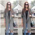 New fashion 2017 Autumn women jacket loose thin sleeve long sleeve coat fat sister in the long section of windbreaker selling