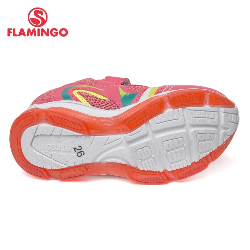Кроссовки Фламинго для девочек 81K BK 0584, кожаная стелька, вид застежки липучка, подошва со светодиодами, для спорта и отдыха. - 3