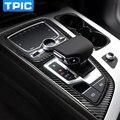 Portavasos Marco Decorativo de Fibra De carbono Para Audi Q7 2016 Car Styling Accesorios Gear Shift Cubierta Interior Trim Panel de Control