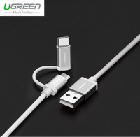 Ugreen Micro USB Type C Cable 2 In 1 Rapid Charge 2 4A USB C Data