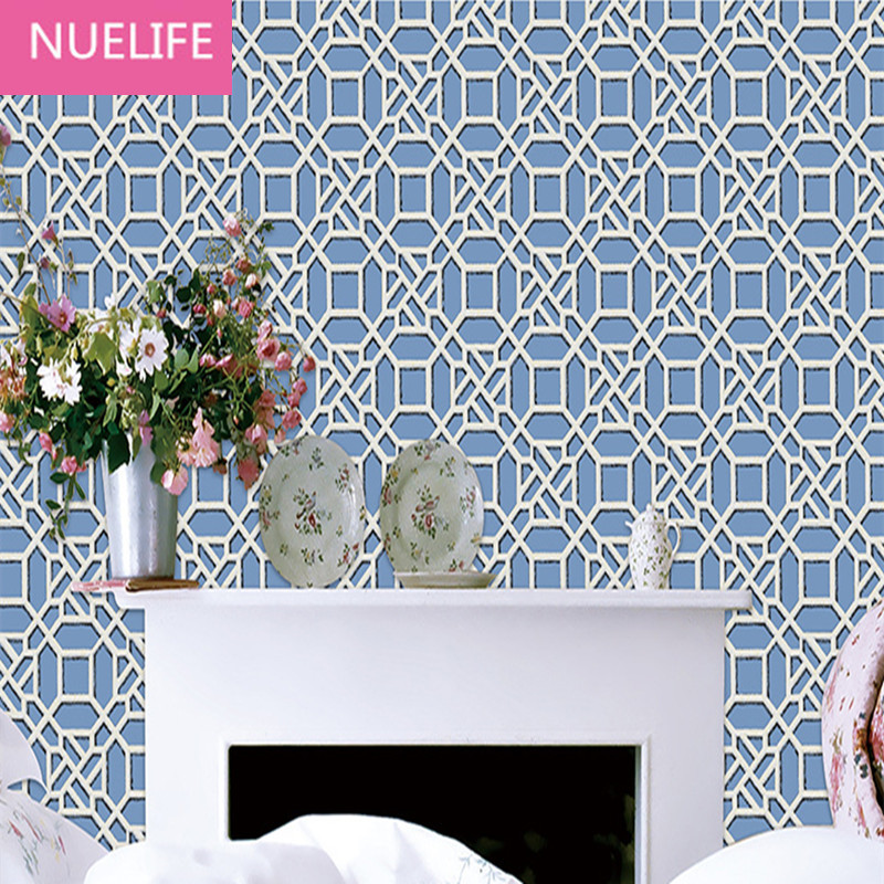 0.53x10 meters  Chinese classical lattice pattern non-woven wallpaper living room bedroom study room hotel restaurant wallpaper0.53x10 meters  Chinese classical lattice pattern non-woven wallpaper living room bedroom study room hotel restaurant wallpaper