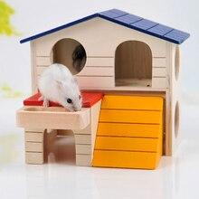Двухслойная комната для небольшого животного хомяка, белка, игровой спальный домик, клетка для домашних животных, принадлежности для хомяка, дом для хомяка